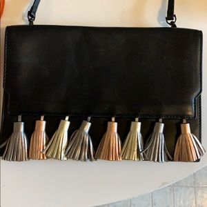 Black cross body/ clutch with accent details